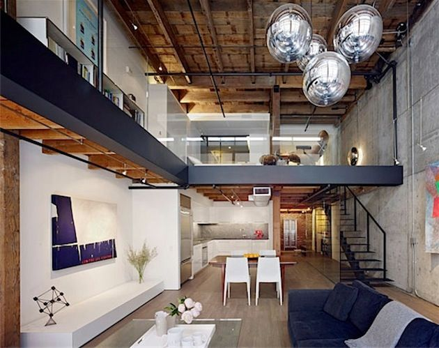 Warehouse loft home tight cribs Pinterest Scheunen - futuristisches interieur loft wohnung