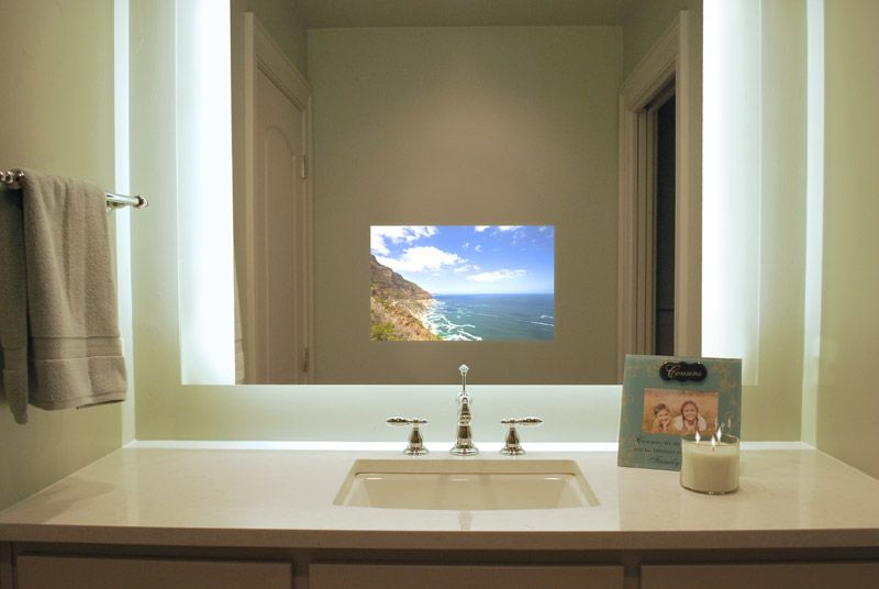 Lighted Mirrors Color Top Bathroom Design Mirror Tv Tv In