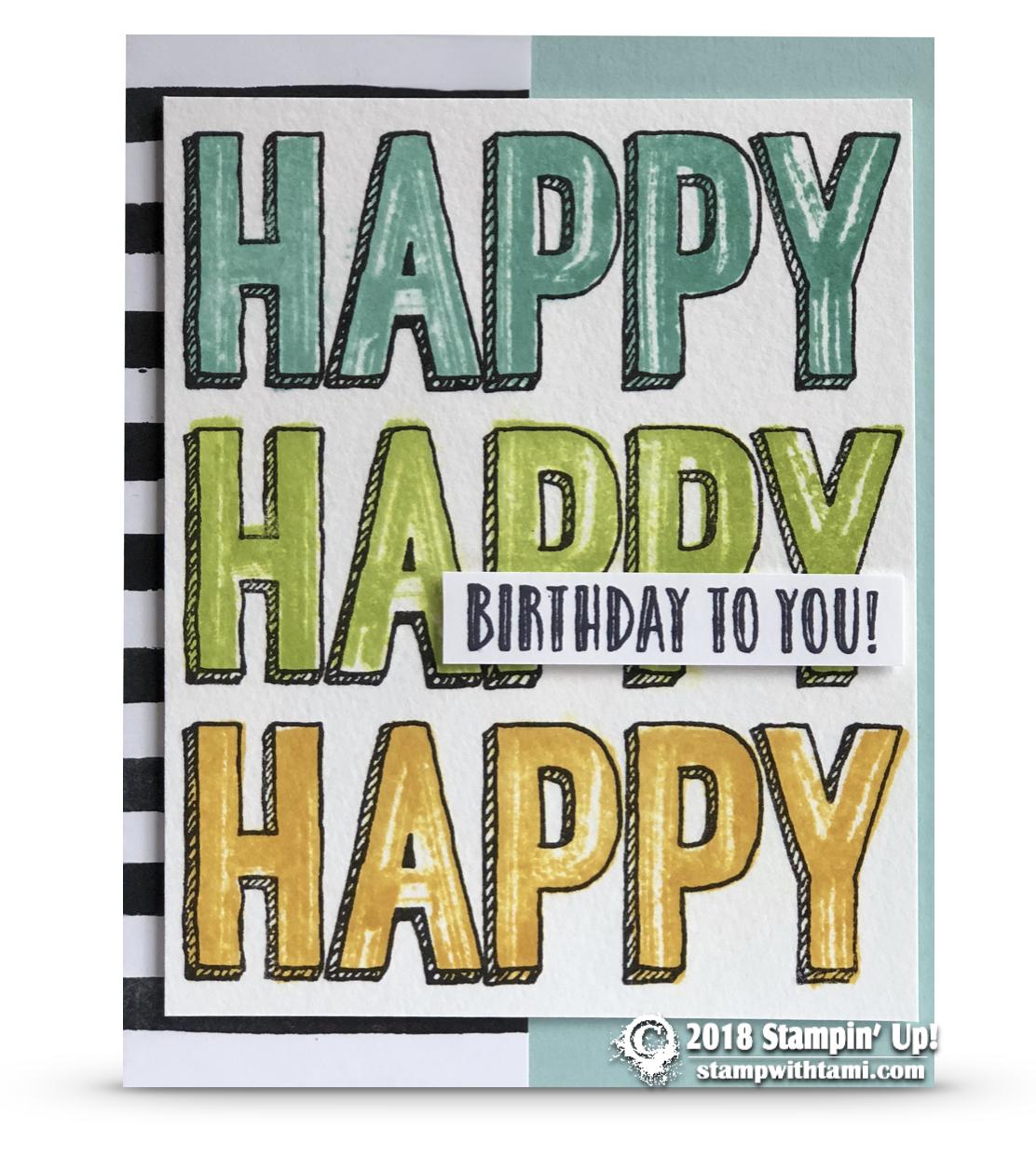 Retiring Happy Celebration Birthday Card Stampin Up Demonstrator