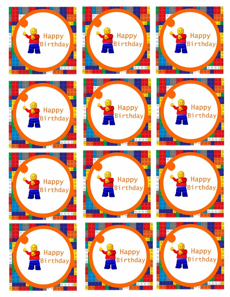 Lego Cupcake Toppers   Scribd   Compleanno lego, Idee lego ...