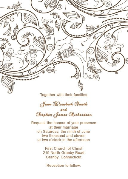 Vintage Flourishes Wedding Invitation Template | Wedding Ideas