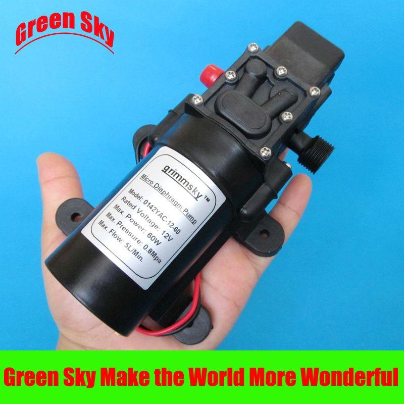 5l Min Dc12v 60w High Pressure Micro Diaphragm Water Pump
