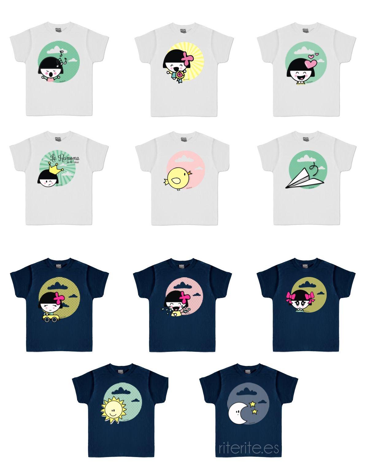 Rite Rite: Colección camisetas niños en Rite Rite. Ilustración infantil. Moda infantil