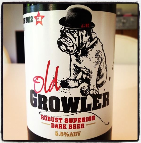 Growler Brewery Old Growler Porter - 5.5% ABV - a robust dark beer from 2012 Brewery of the year