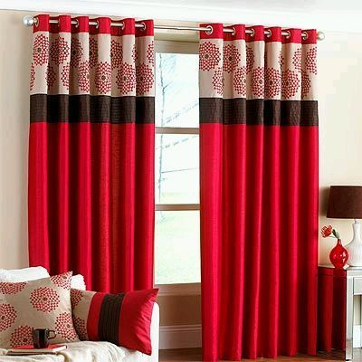 cortinas rojas For the Home Pinterest Window, Living rooms and