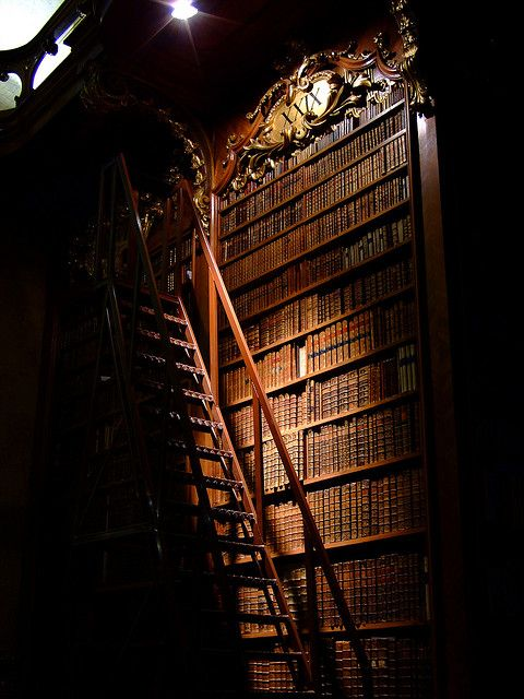 Prunksaal - national library, Vienna  --------------------------------------------- I wonder what secrets these books hold...
