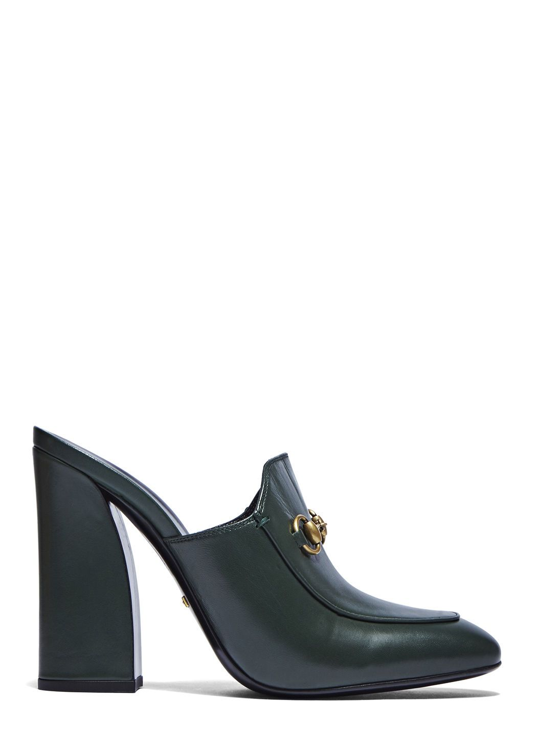 GUCCI Women S Heeled Loafer Mules In Green.  gucci  shoes ... 857934677d
