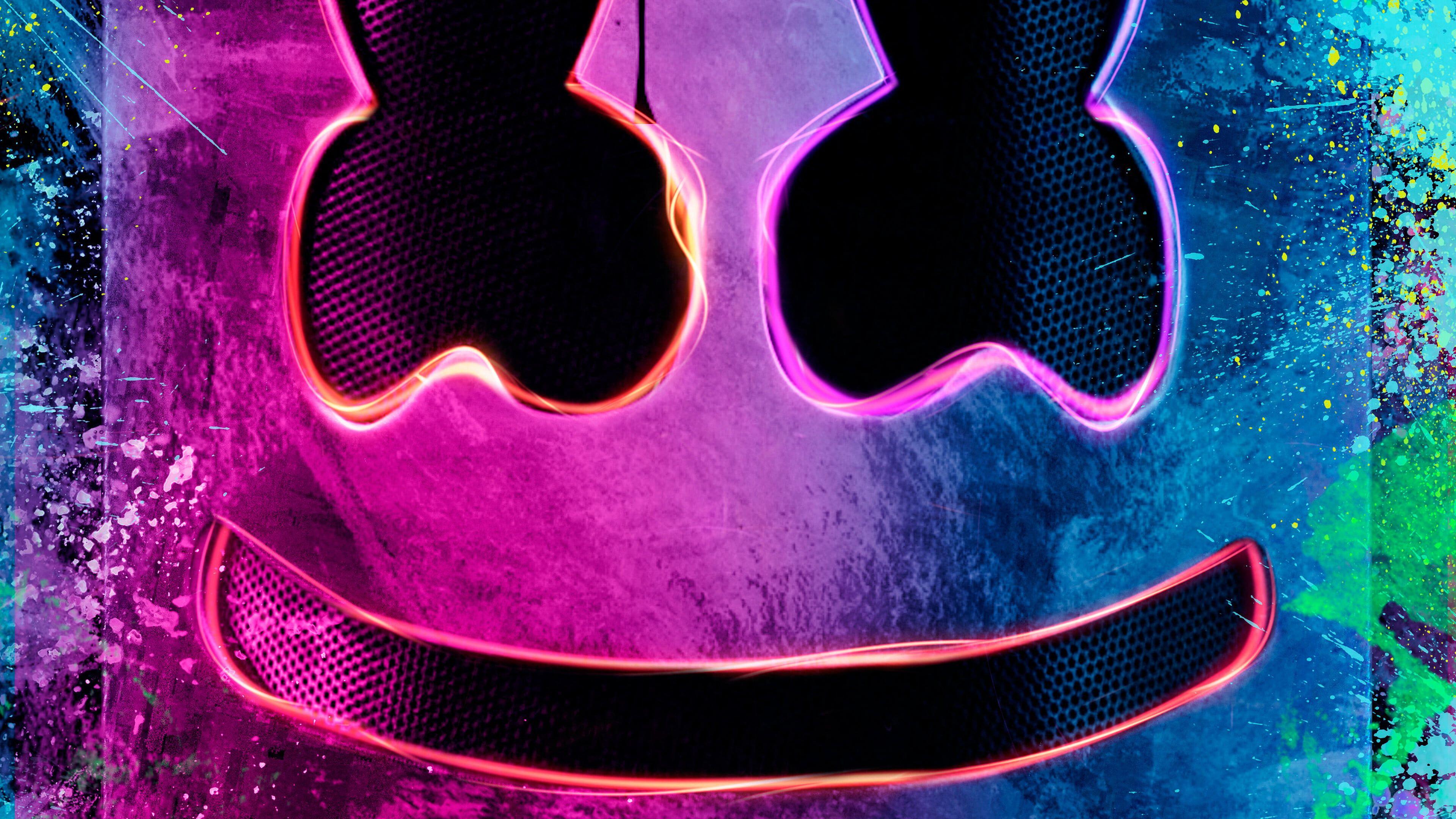 Billie Eilish Alan Walker Alan Walker Logo Marshmello Neon 4k Wallpaper Hdwallpaper Desktop Alan Walker Hd Wallpaper Marshmallow Pictures