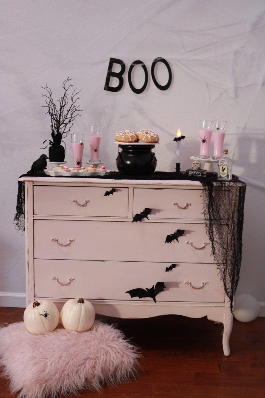 Pink Halloween Halloween Dessert Table Halloween Party Ideas