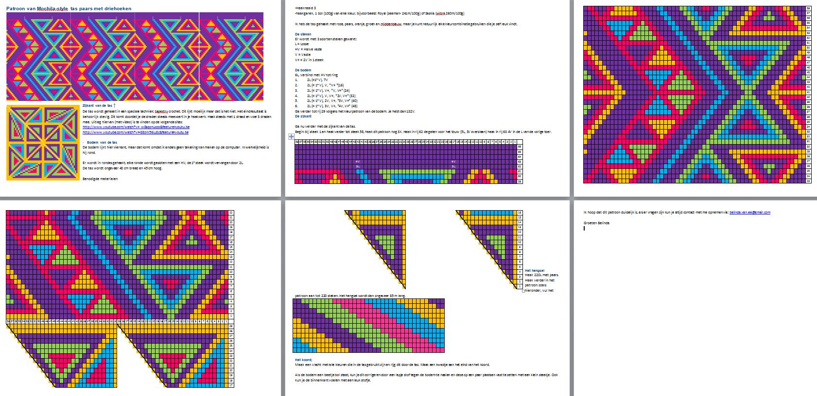 mochila haakpatroon - Google zoeken   crochet charts   Pinterest ...