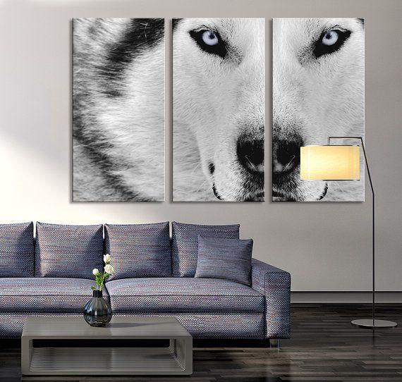Canvas Print Wild Wolf Canvas Art Siberian Husky