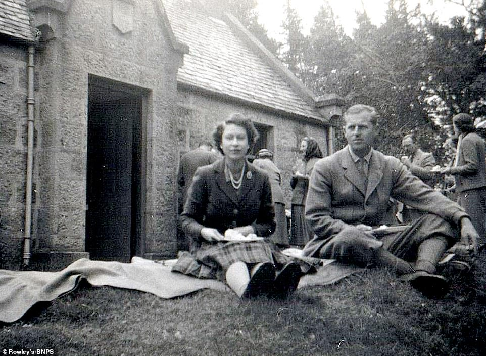 Photos of a young Princess Elizabeth and Prince Philip up