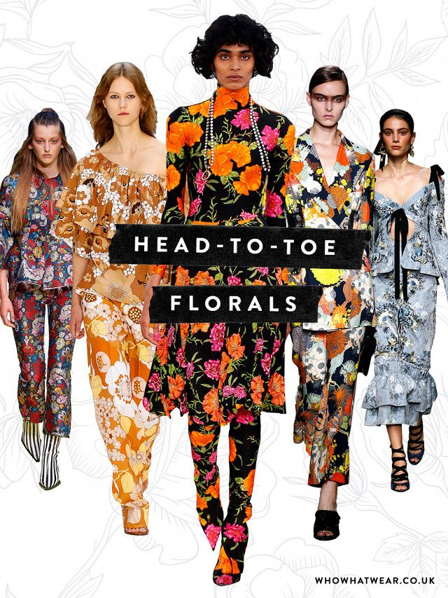 Image result for runway head to toe florals