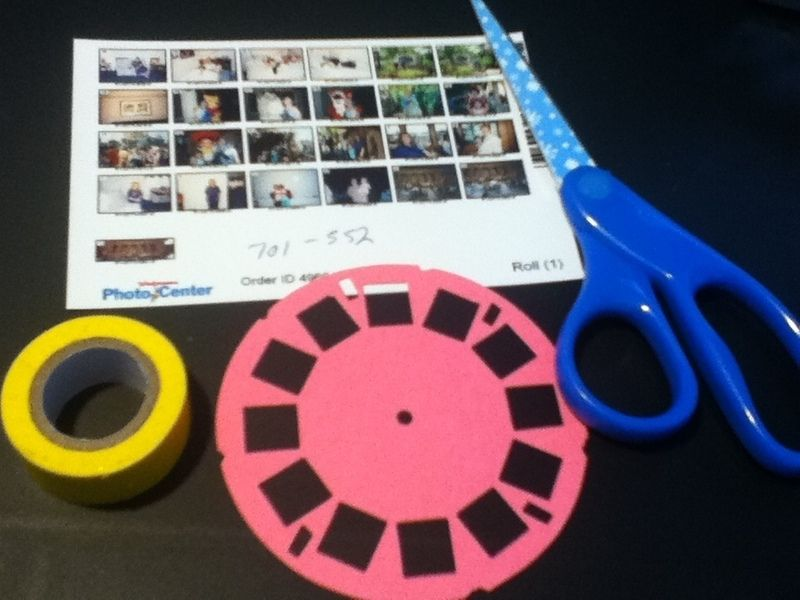 How to make a mixed media. Viewmaster Photo Reel For A Scrapbook - Step 1