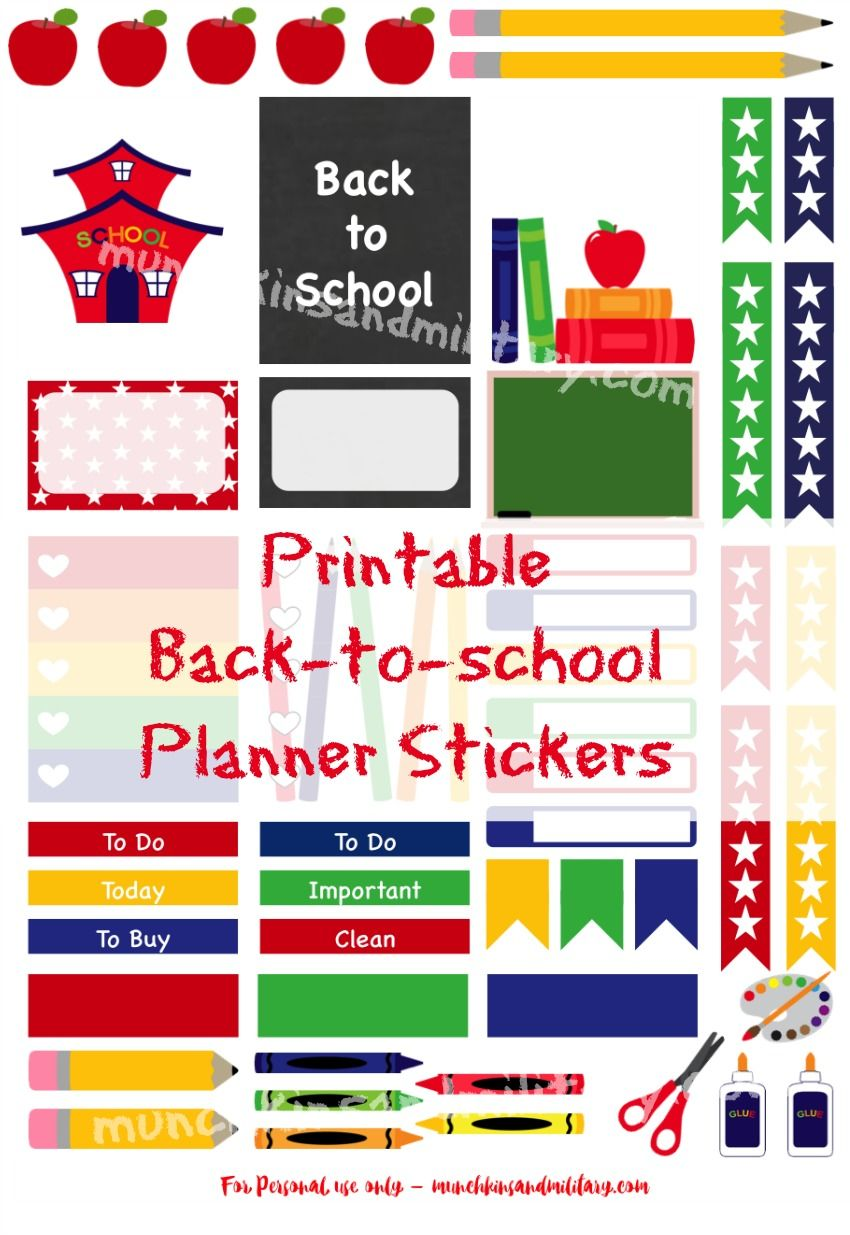 ready for school?! don't miss a thing with these printable stickers