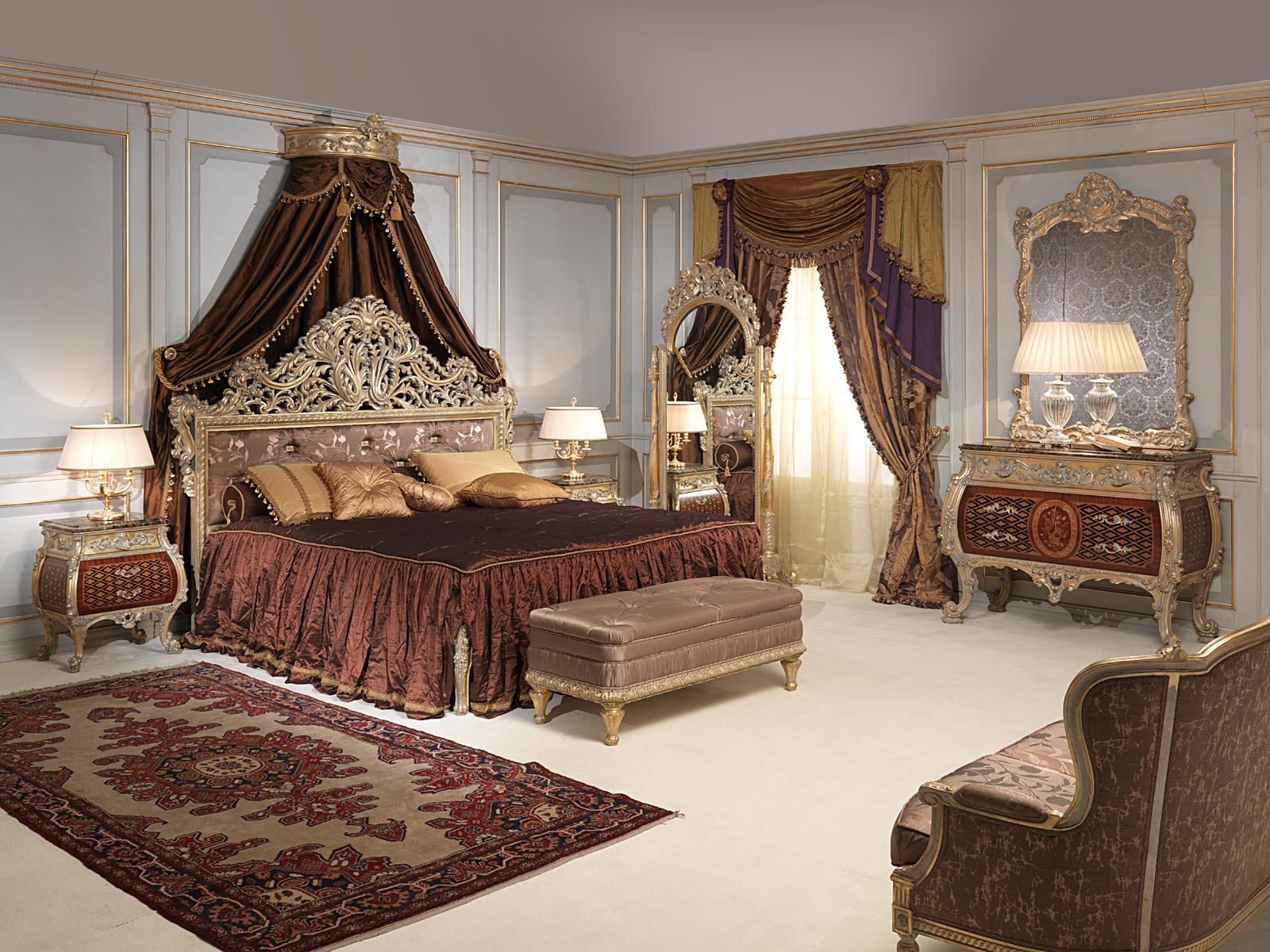 Brilliant Luxury Bedroom Setting With Velvet Rug Bedding And Sofa Unemploymentrelief Wooden Chair Designs For Living Room Unemploymentrelieforg