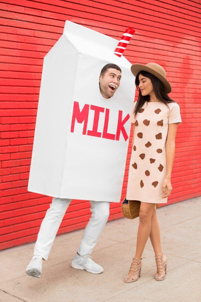 DIY couples Halloween costume ideas 2017 (easy) Milk  Cookies - mens homemade halloween costume ideas
