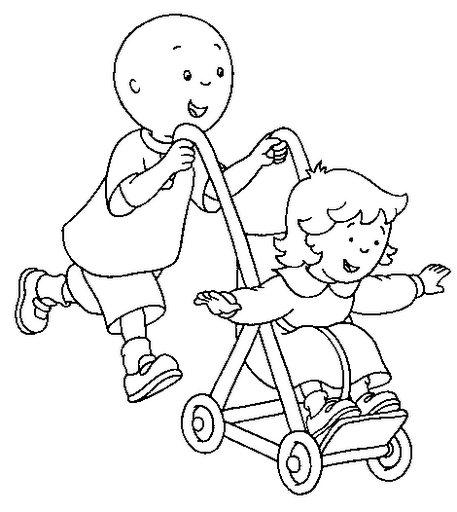 caillou ausmalbilder 09 | Ideen Kinder | Pinterest | Craft