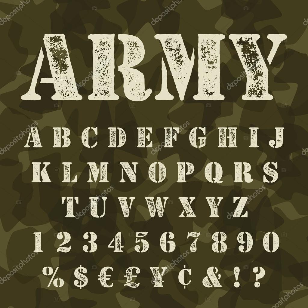 Lettertype Militair, Illustratie