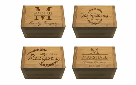 Custom Family Recipe Box Personalized Recipe Box Wooden Recipe Box