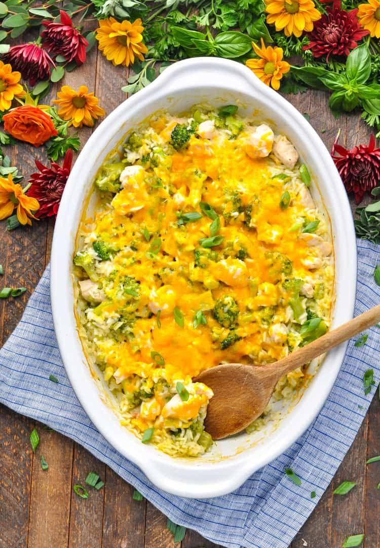 Dump-And-Bake Chicken Broccoli Rice Casserole  Recipe -1695
