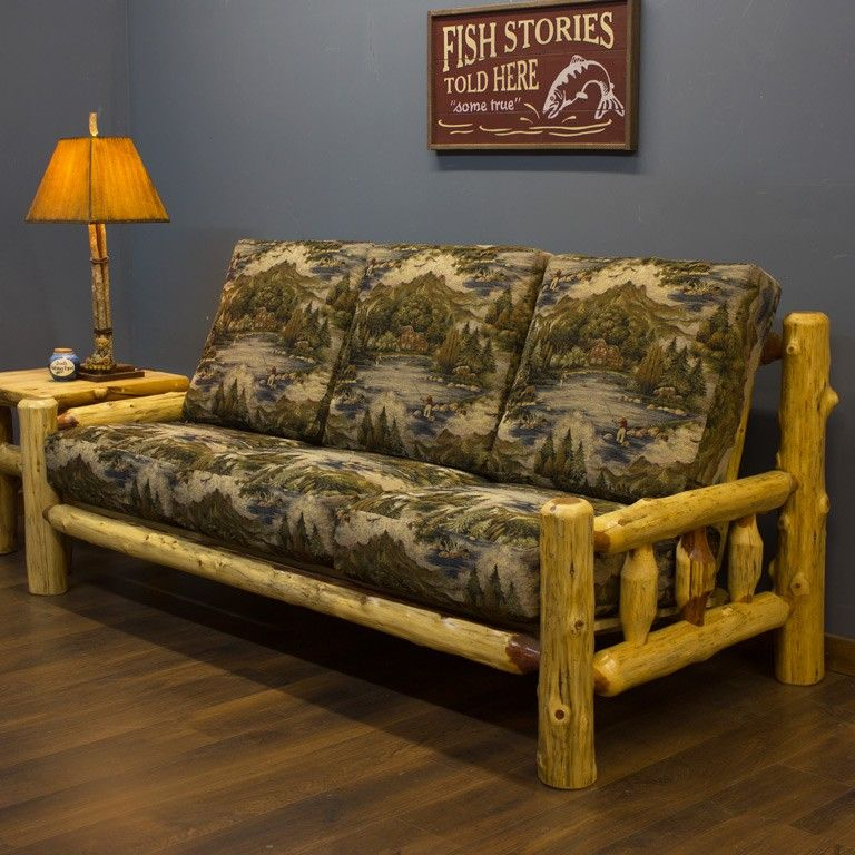 Homemade Couches rustic sofas & rustic couches: log sofa, log couch, rustic sofa