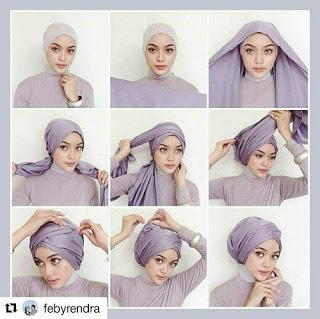 Kumpulan Gambar Tutorial Hijab Segi Empat Sederhana Terbaru Simpel My Ely Hijab Turban Style Hijab Tutorial Head Scarf Styles