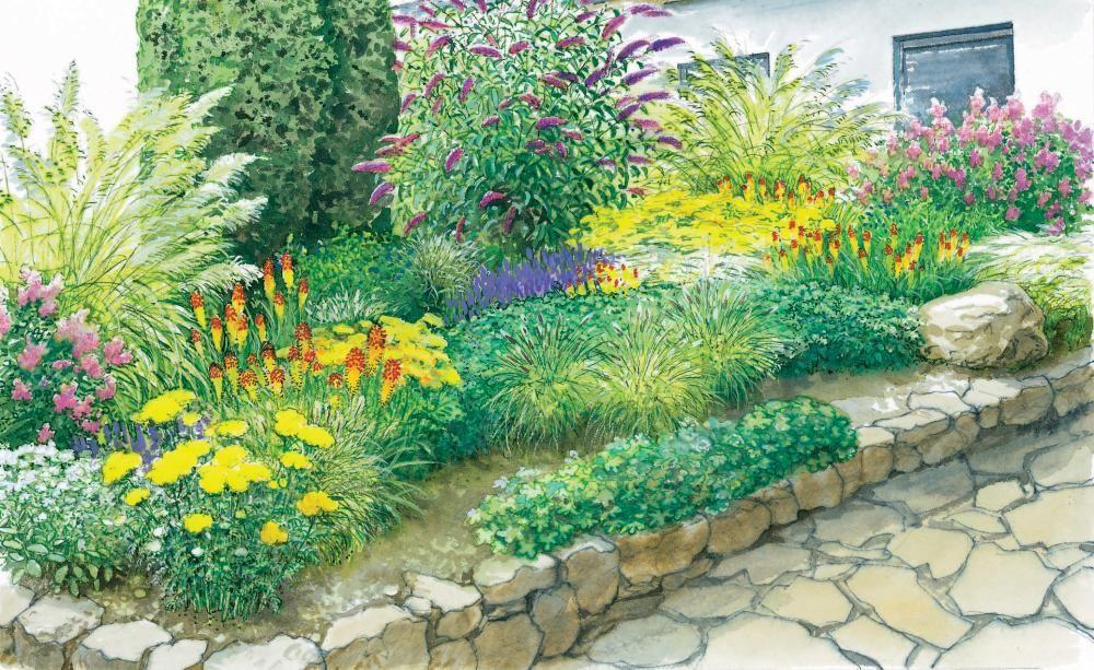 Gestaltungsideen fürs Vorgartenbeet