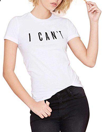 haoduoyi Women's I CAN'T Letter Print Slim T-shirt X-Small White HaoDuoYi http://www.amazon.com/dp/B00SQORBG8/ref=cm_sw_r_pi_dp_IcFPvb1KVNNW5