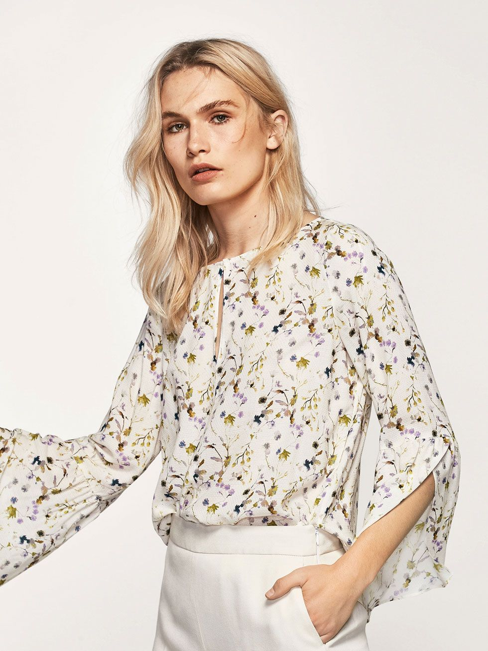 3849ee130b3 Autumn winter 2016 Women´s JACQUARD FLORAL PRINT SHIRT at Massimo Dutti for  279. Effortless elegance!