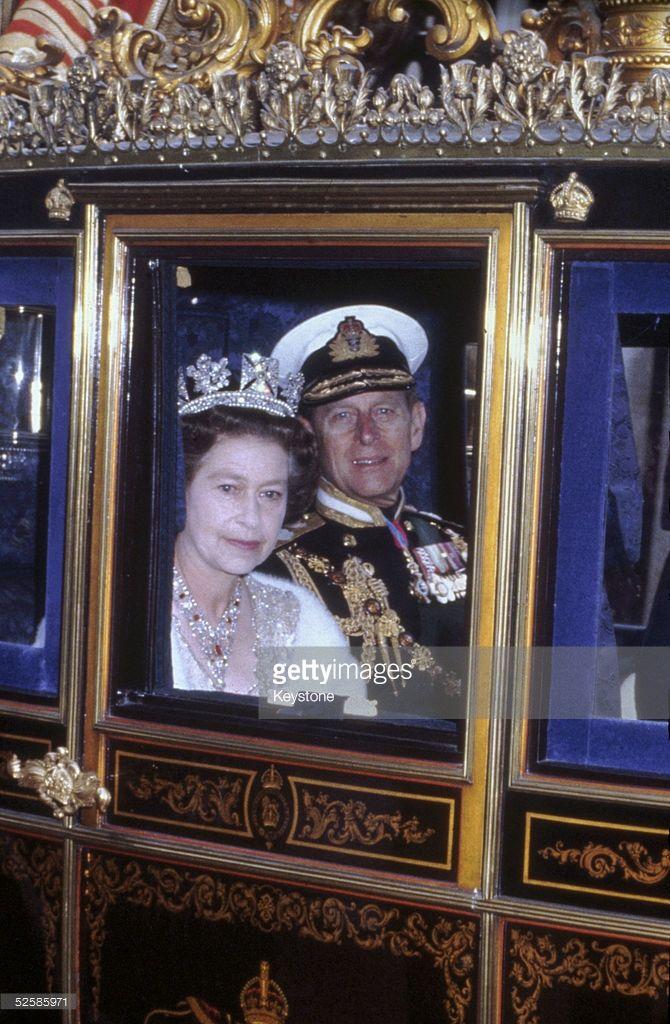 Queen Elizabeth II and her husband Prince Philip, Duke of