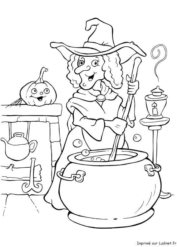 La Soupe De La Sorciere Coloriage D Halloween Coloriage Halloween Coloriage Halloween A Imprimer Coloriage Haloween