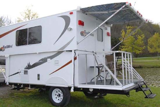 Trailmanor Trailmini Folding Travel Trailer Ultra Lightweight Tips The Scales At A Lite 1850 Lbs You Can Tow With Vehicles That Are Not Able To