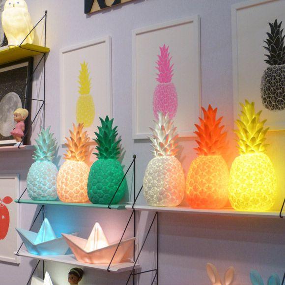 lampes ananas deco maison et objet maison et d coration ananas. Black Bedroom Furniture Sets. Home Design Ideas