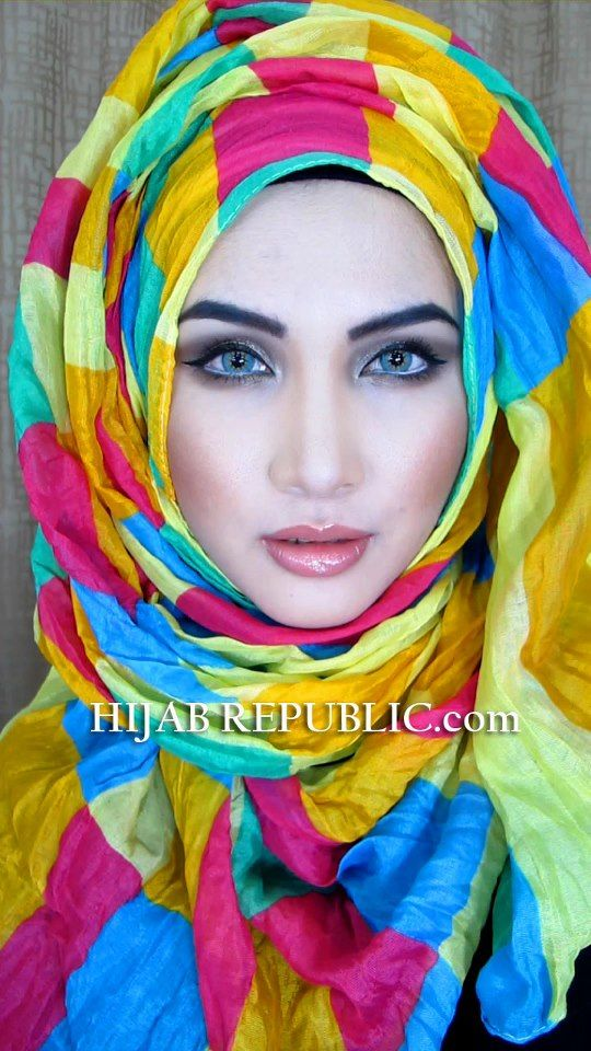 HIJAB REPUBLIC colorful #scarf #hijabi #hijabista