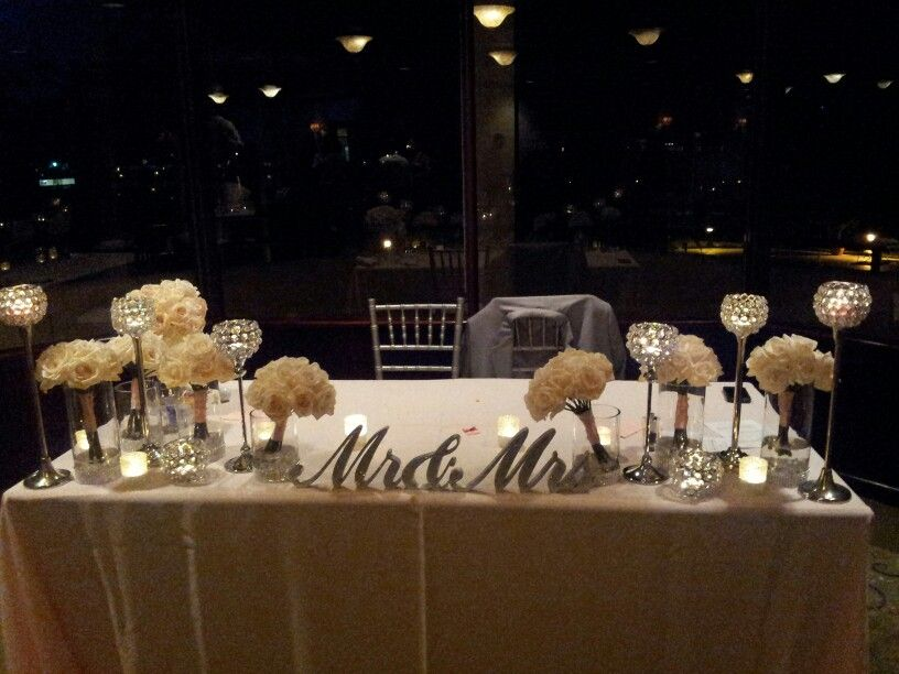 wedding centerpieces sweetheart table