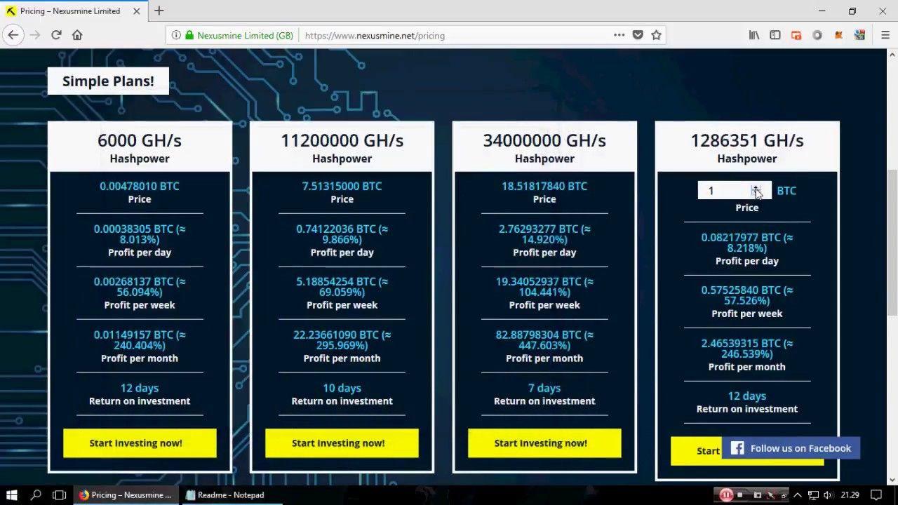 Nexusmine Limited : New Bitcoin Cloud Mining 2018 (Free 200 Gh/s