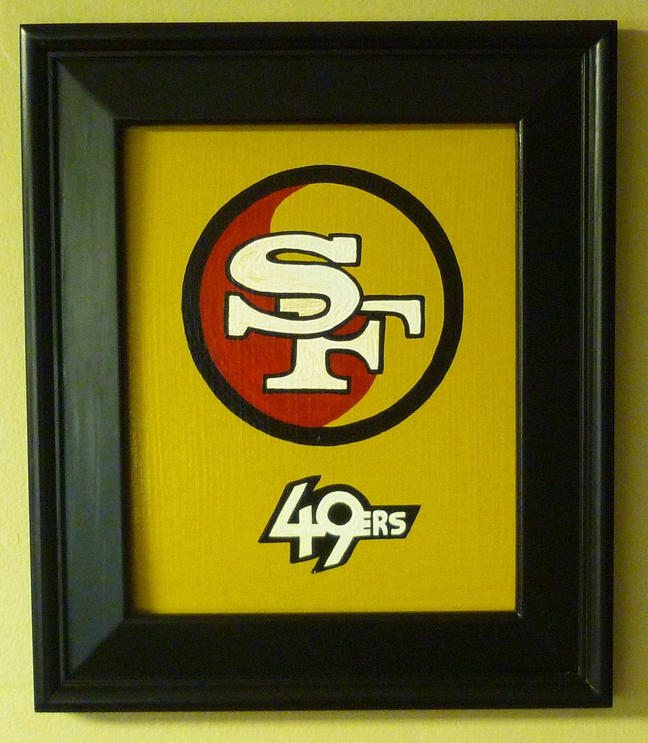 San francisco 49ers yin yang symbol asian zen chinese art for 49ers bathroom decor
