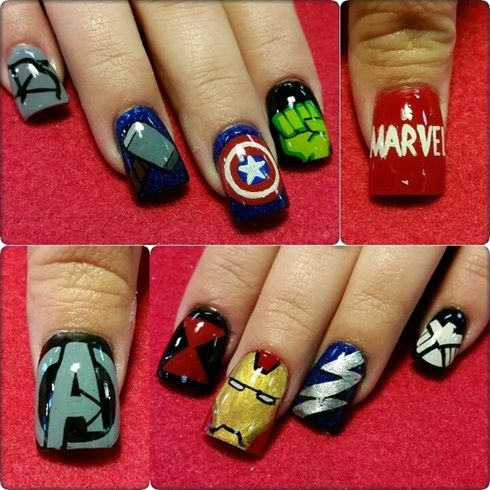 Avengers By Oli123 From Nail Art Gallery Well Manicured Nails