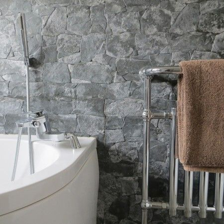 interesting dry stacked tile design ideas | dry stone wall