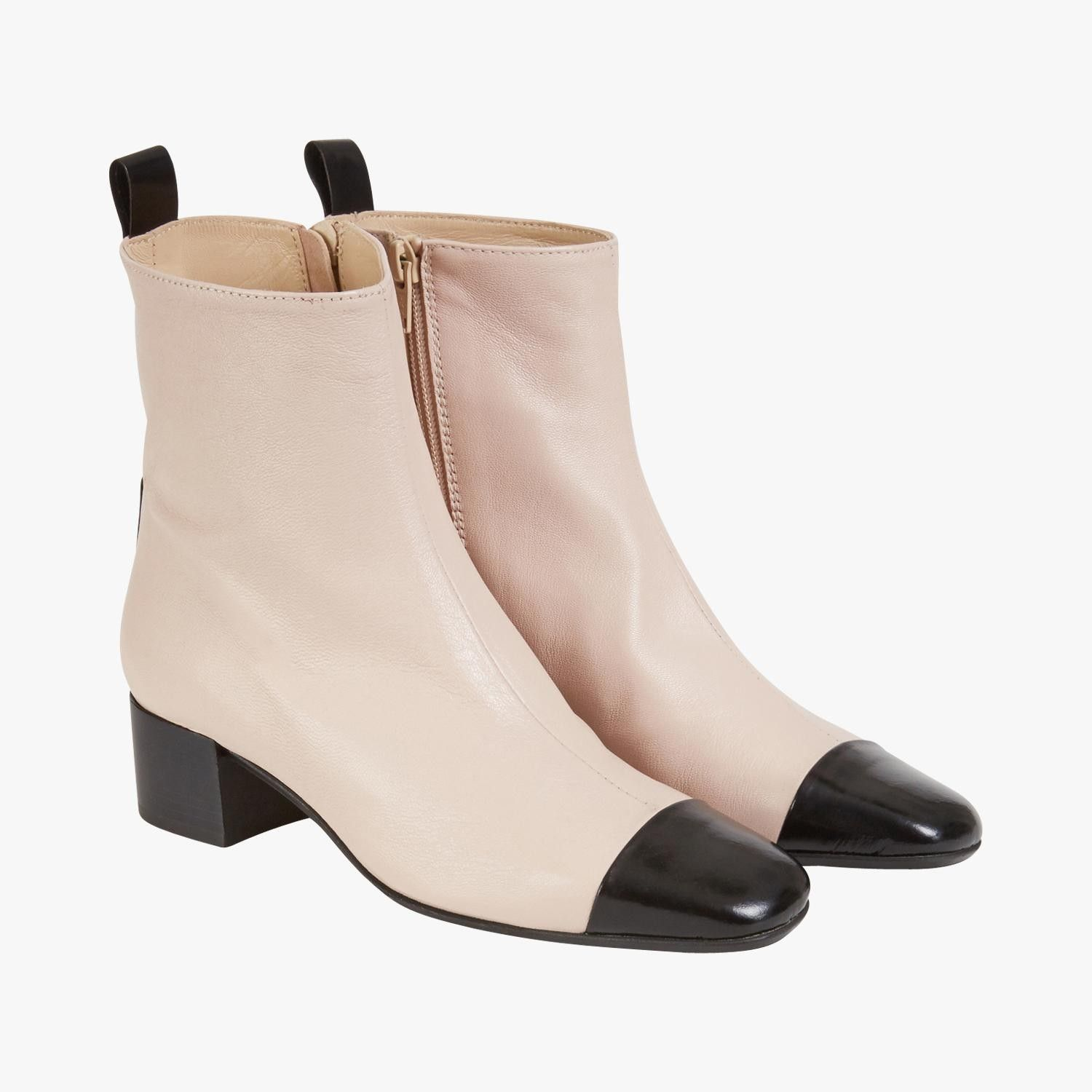 bottines bicolore fini verni - carel #lebonmarche #tendance