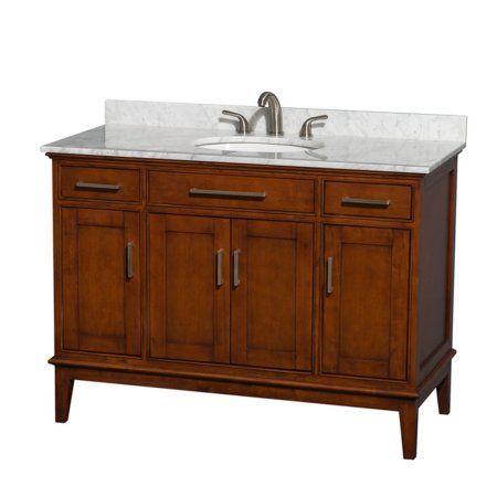 Wyndham Collection WCV161648SCL Hatton 48-in. Single Bathroom Vanity ...