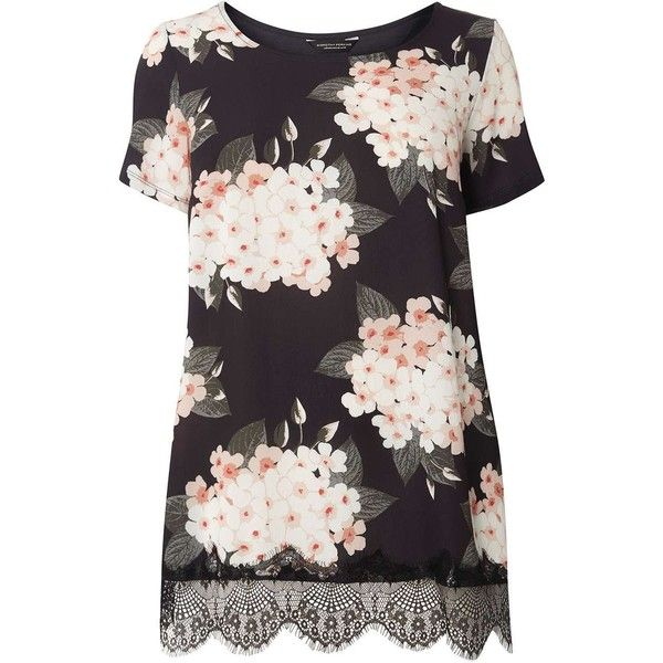Dorothy Perkins Womens **DP Curve Floral Print Ruffle Neck Top- With Credit Card 2018 Cheap Price Pay With Visa Cheap Online Stockist Online For Sale Online 51VxKfmr