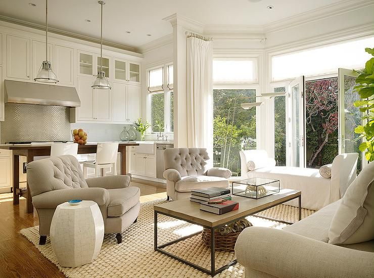 Magnificent Family Room Right Of Kitchen Is Filled With A Light Gray Short Links Chair Design For Home Short Linksinfo