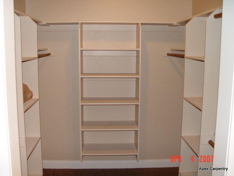 Walk-In Closet Shelving Ideas | built in shelving and cabinet ...