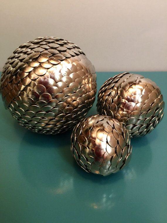 Silver Vase Filler Balls Silver Shelf Decor Silver Balls Silver