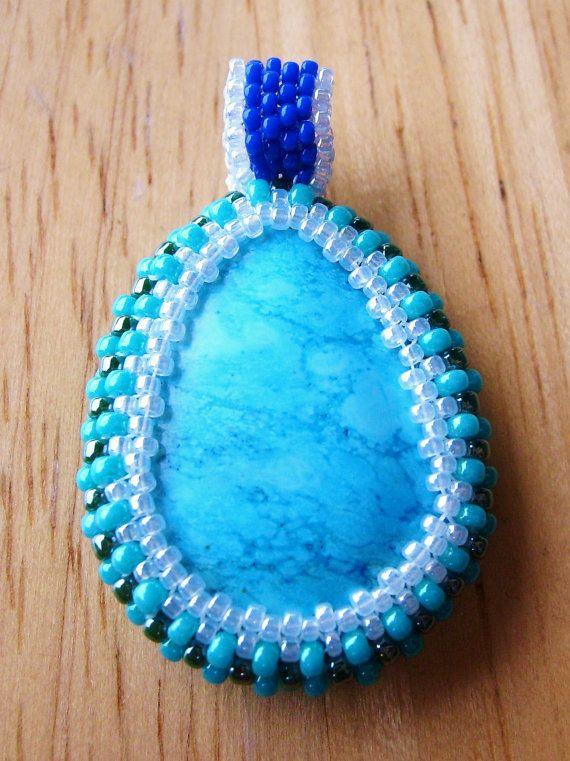 Handmade Seed Beaded Pendant by sandrasadornedjewels on Etsy, $30.00
