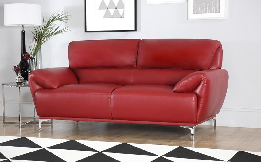 Enzo Red Leather Sofa 3 2 Seater Red Leather Sofa Living Room Red Leather Sofa Leather Sofa