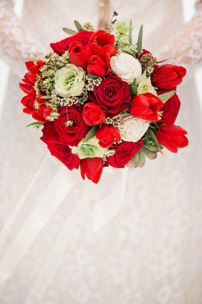 Beautiful Red Rose Bouquet Wedding Bouquets Pinterest Wedding