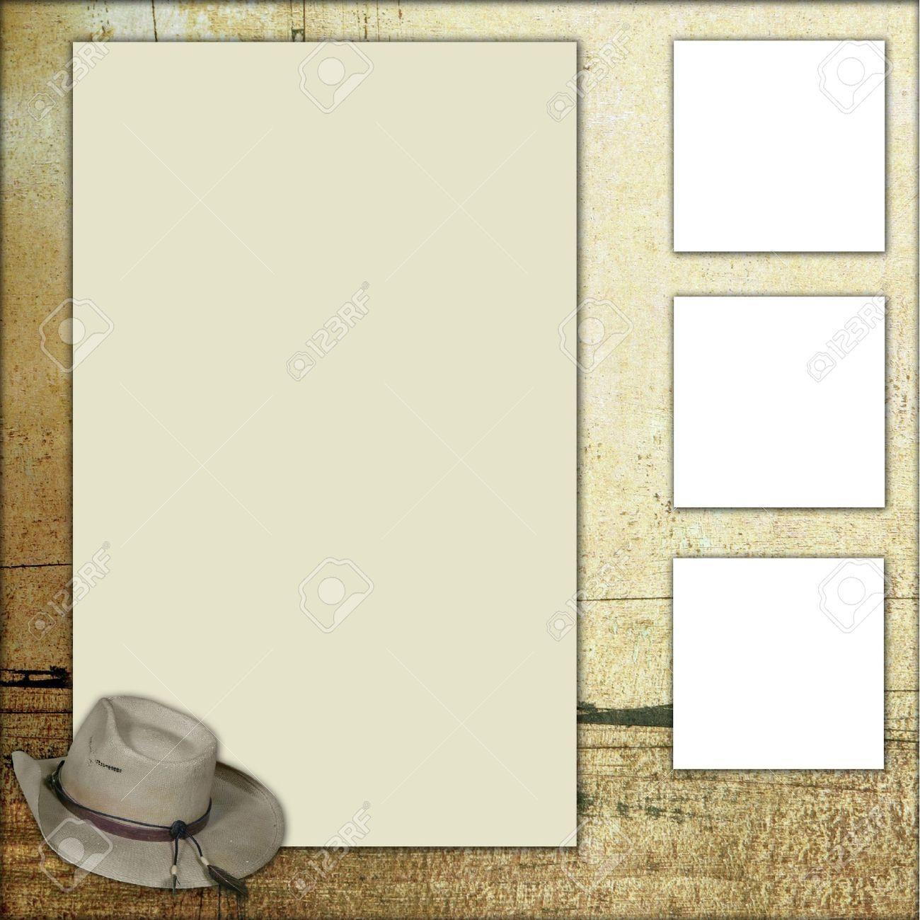 Foto de archivo - Occidental tema cuadrados marco bloc de notas ...